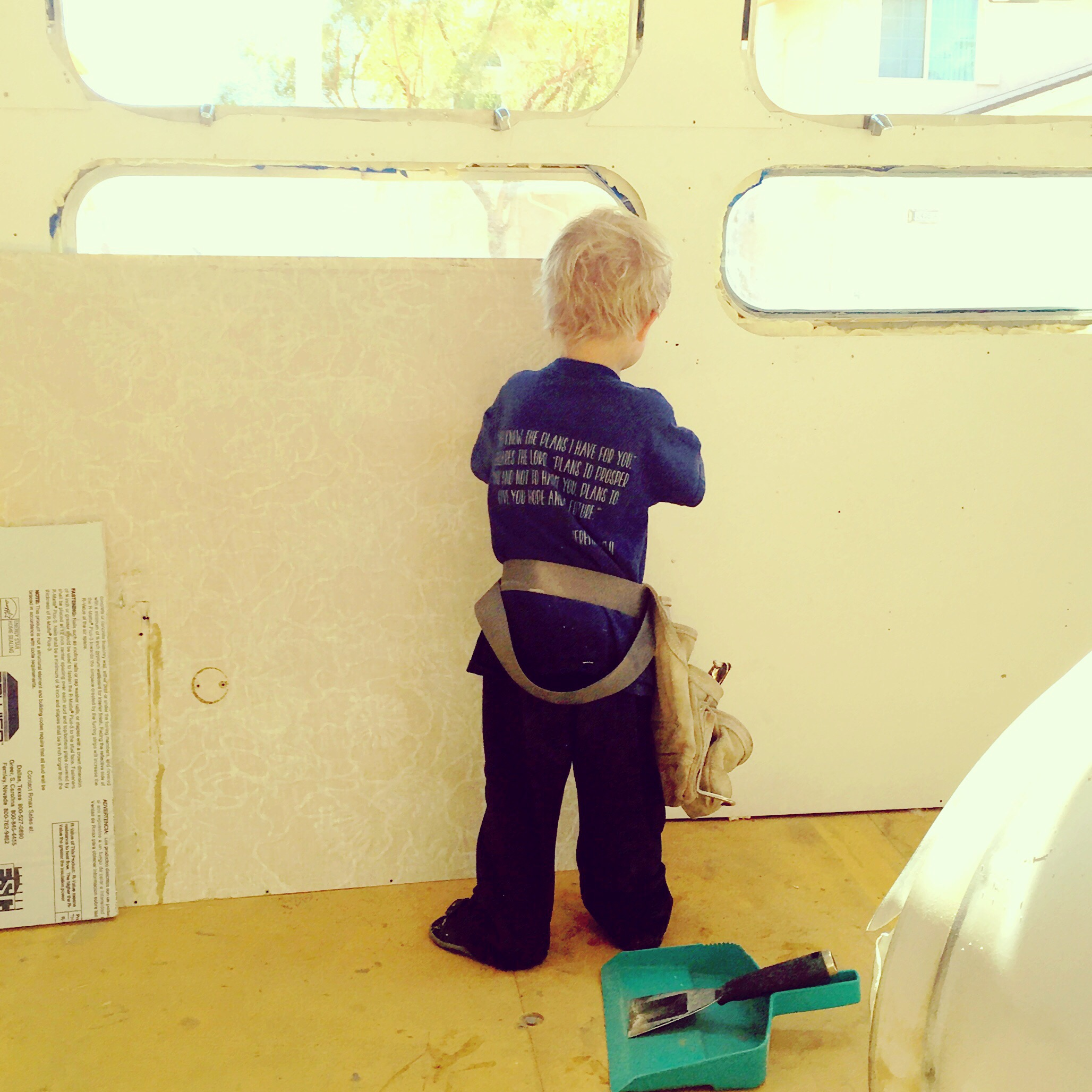 airstream renovation :: wall panels back in - Apple Trail